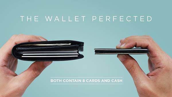 The Micro Minimal Slim Wallet Holds 8 Cards with RFID Protection