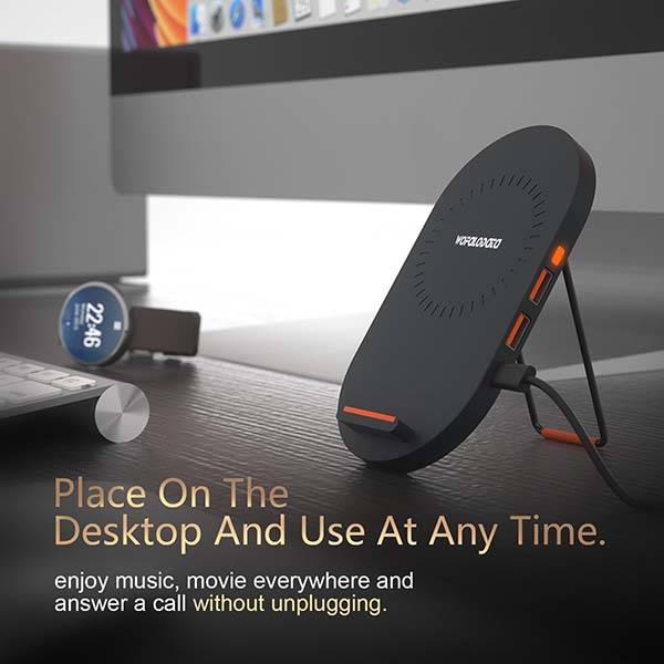 The Wireless Charging Pad with Two USB Ports