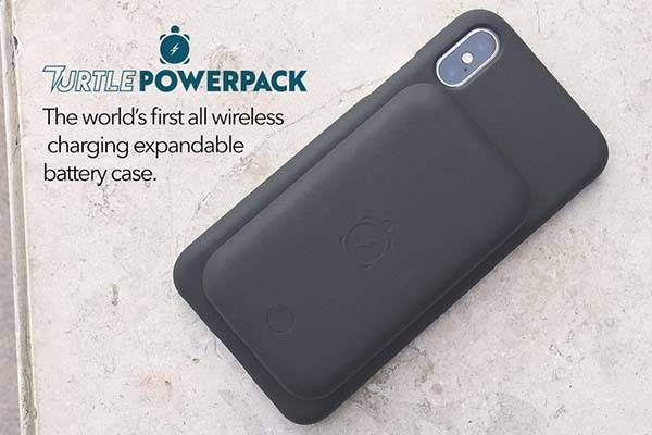Turtle Power iPhone X Battery Case with Detachable Battery Pack