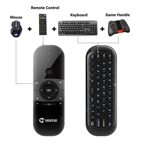 Vontar 057 Remote Control with Mini Keyboard and Air Mouse