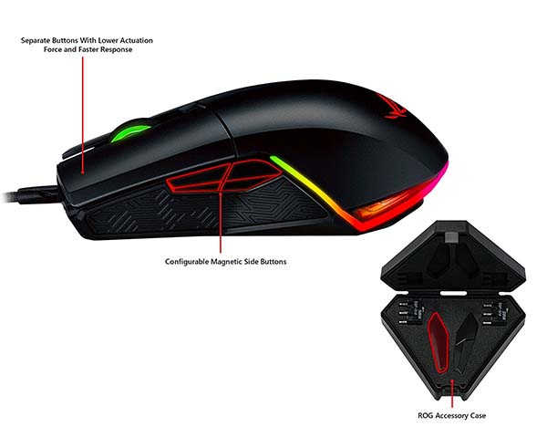 ASUS ROG Pugio Aura RGB Wired Gaming Mouse