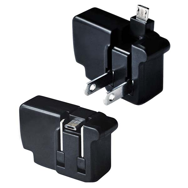 Chargerito Compact USB Wall Charger with Lightning or MicroUSB Connector