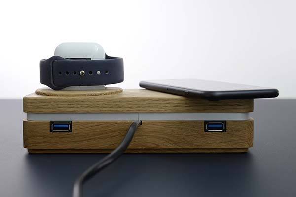 Dockit W3 Handmade Customizable Wireless Charging Dock with Apple Watch Stand