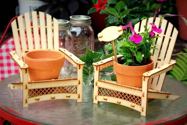 Handmade Adirondack Chair Outdoor Planter