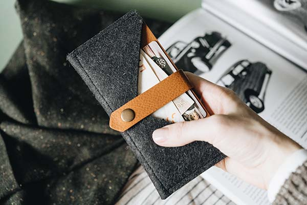 The Handmade Leather iPhone X Wallet by Band&Roll