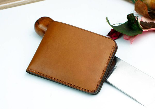 The Handmade Customizable Slim Bifold Leather Wallet