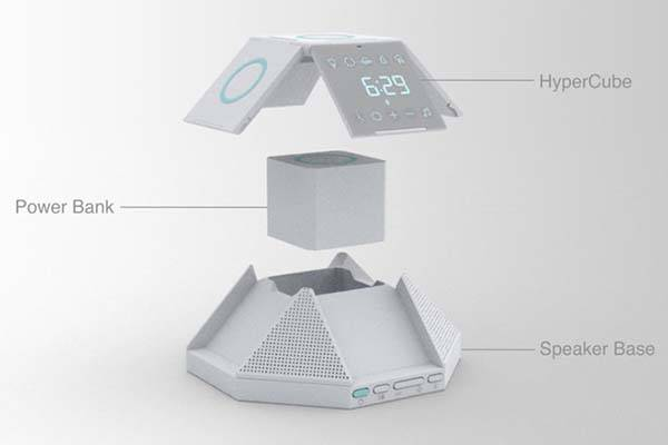 HyperCube Ultimate Wireless Charger with Bluetooth Speaker Base