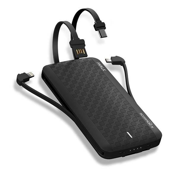 iWalk Scorpion Slim Power Bank with All Charging Cables You Need