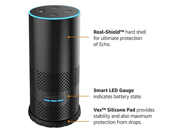 Mission Battery Shell for Amazon Echo 2