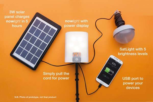 Nowlight Portable LED Light for Off-Grid Illumination and Charging