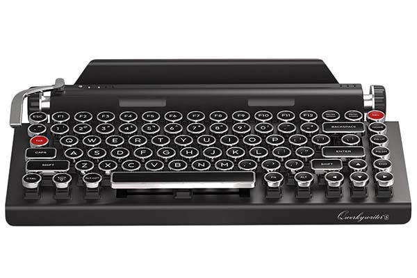 Qwerkywriter S Typewriter Inspired Retro Mechanical Wireless Keyboard