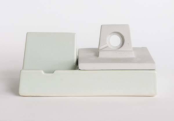 Handmade Stak Ceramic iPhone and Apple Watch Dock