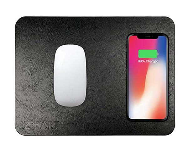The Mouse Pad with Integrated Wireless Charging Pad