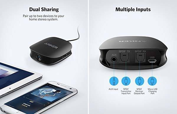 Anker Soundsync A3341 2-In-1 Bluetooth Transmitter and Receiver