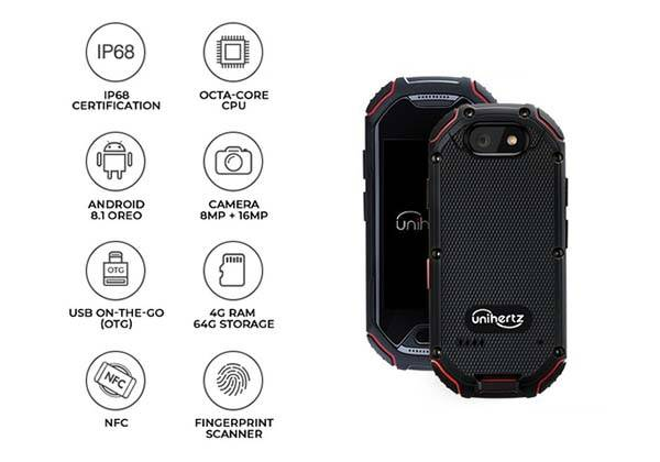 Atom Compact and Rugged 4G Smartphone