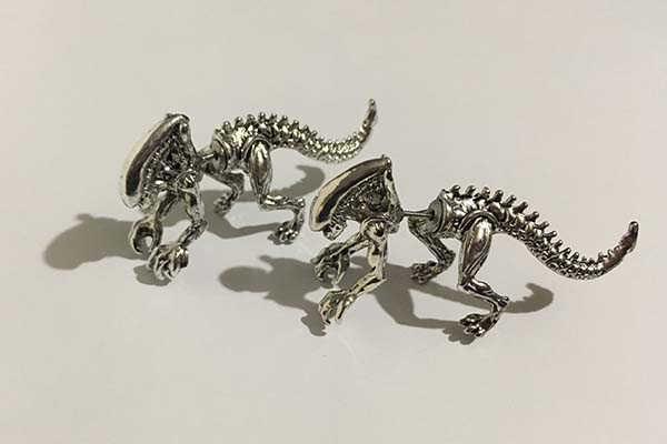 Handmade 3D Alien Xenomorph Earrings