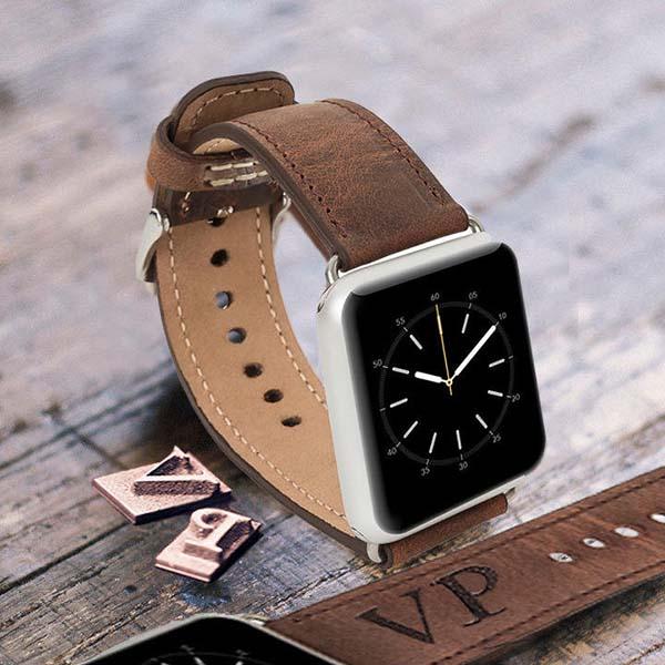Handmade Customizable Leather Apple Watch Band