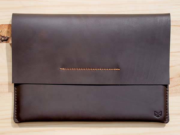 Handmade Draftsman1 Leather iPad Sleeve with Apple Pencil Holder