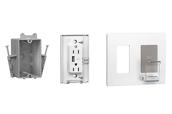 Legrand Radiant Wall Outlet Plate with USB and Wireless Charger