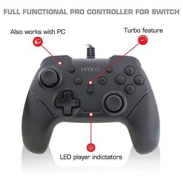 Nyko Core Game Controller Twin Pack for Nintendo Switch and PC