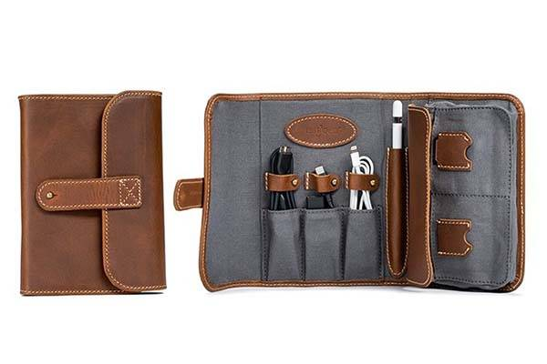 Pad&Quill TechFolio Leather Cord Organizer