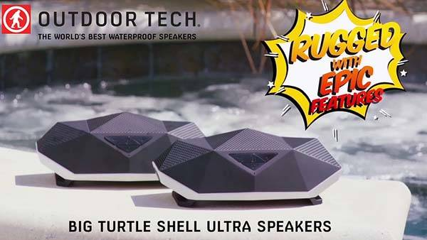 Big Turtle Shell Ultra Waterproof Bluetooth Speaker with LED Lantern and Power Bank