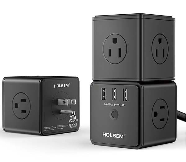 The Modular Surge Protector with 14 Outlets and 3 USB Ports