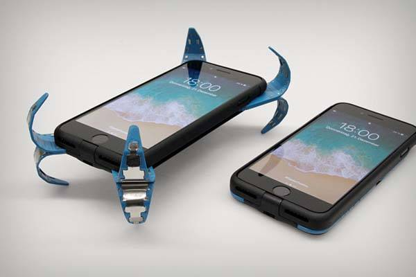 The Smart Phone Case Features a Self-Activating Springs for Protection