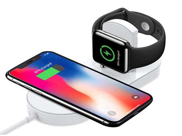 The Wireless Charging Pad with Apple Watch Charger