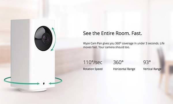 Wyze Cam Pan WiFi Indoor Smart Home Camera
