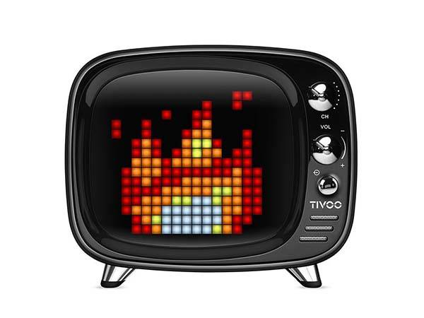 Divoom Tivoo Retro TV Bluetooth Speaker with Customizable Pixel Art