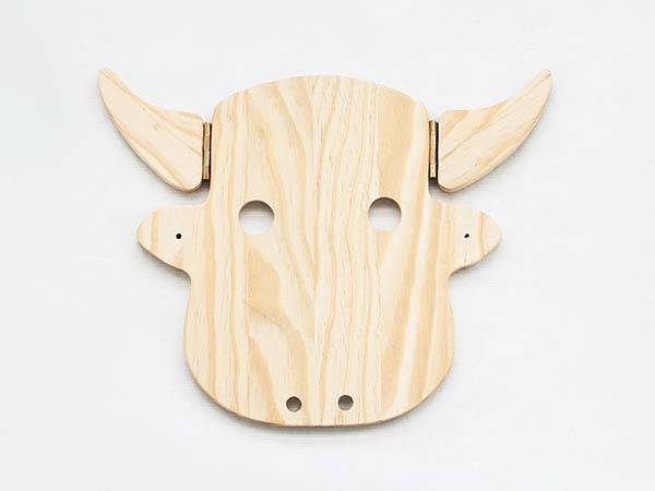 Handmade Cow Inspired Wall Hanging Coat Rack