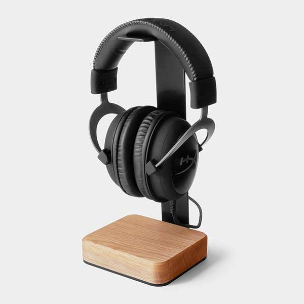 Handmade Customizable Steel and Wooden Headphone Stand
