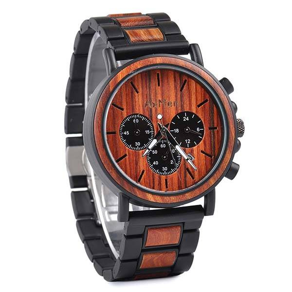 Handmade Customizable Wooden Watch with Free Engraving