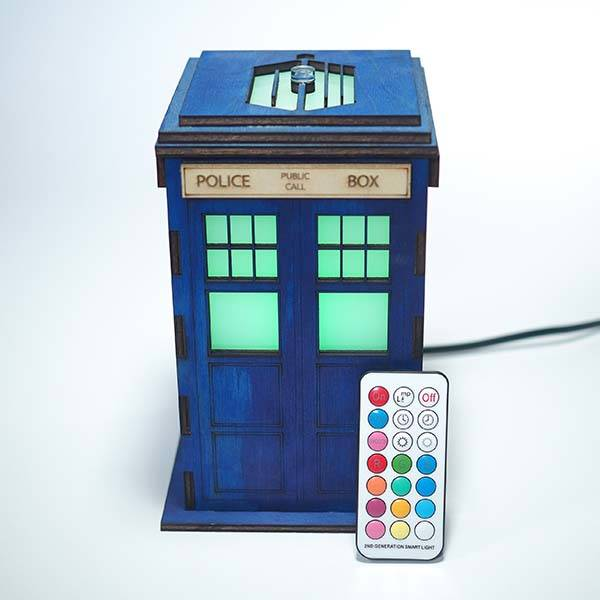 Handmade Doctor Who Tardis LED Accent Lamp
