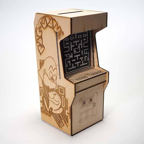 Handmade Wooden Arcade Machine Piggy Bank