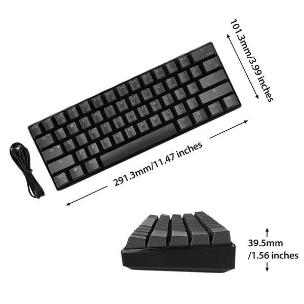 LeaningTech LTC-K61 Programmable RGB Bluetooth Mechanical Keyboard