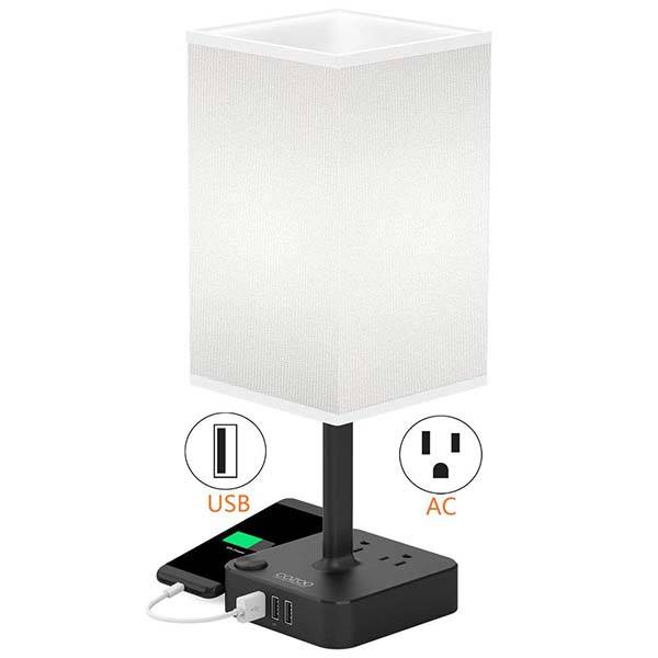The LED Desk Lamp with USB Ports and AC Outlets