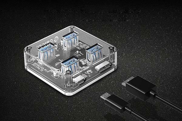 Orico Transparent 4-Port USB 3.0 Hub