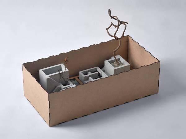 Pelle Handmade Concrete Desk Organizer Set