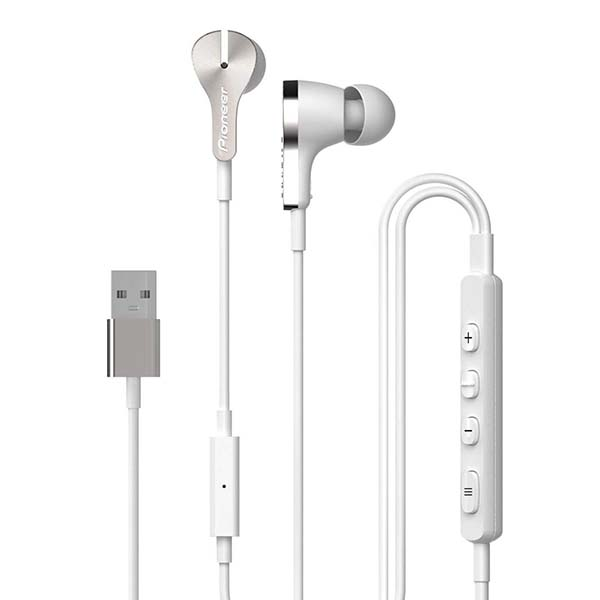 Pioneer Rayz Pro Lightning Noise Cancelling Earbuds with USB-C Adapter