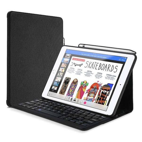 ProCase 9.7-Inch iPad Keyboard Case with Apple Pencil Holder