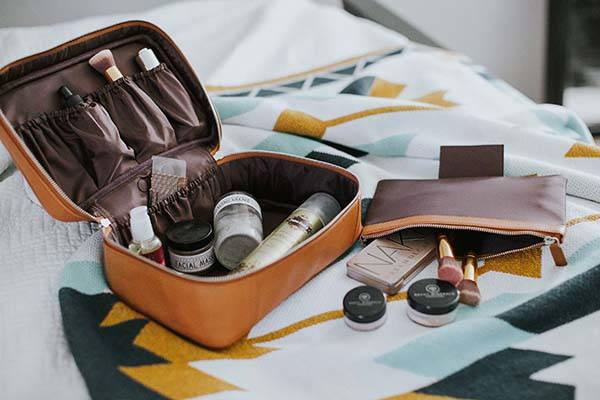 Handmade Customizable Leather Toiletry Bag