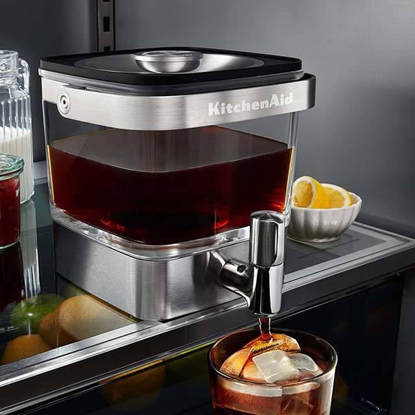 The Stainless Steel Cold Brew Coffee Maker with Tap and Reusable Steeper