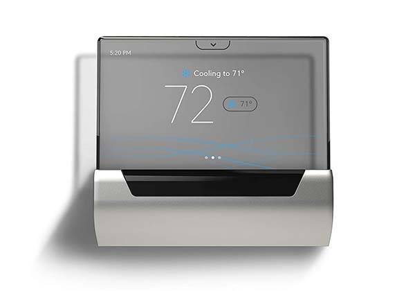GLAS Smart Thermostat with Translucent OLED Touchscreen Supports Amazon Alexa