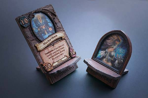 Handmade Customizable Wooden Hearthstone Cards
