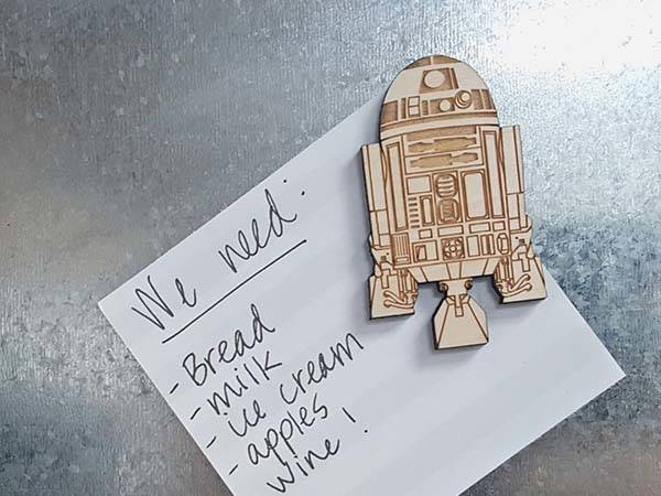 Handmade Wooden Star Wars Fridge Magnets