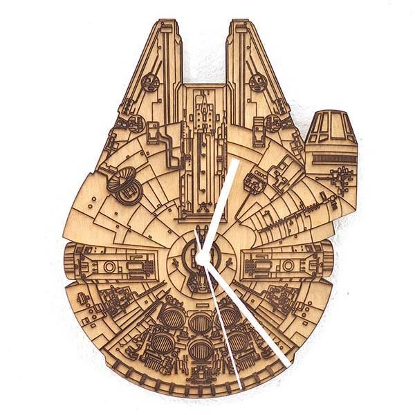 Handmade Star Wars Millennium Falcon Wall Clock