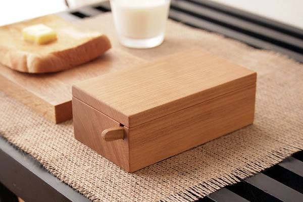 Handmade Wooden Butter Dish with Custom Knife