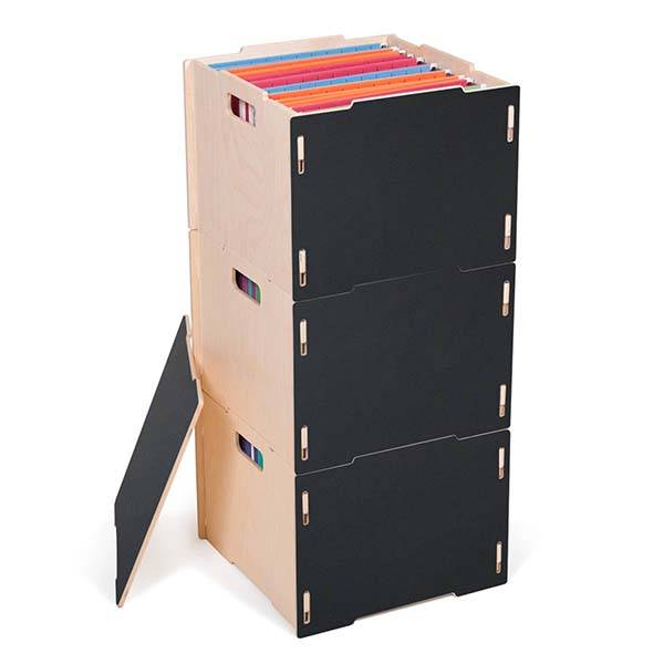 Handmade Modular Wooden Hanging File Box